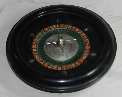 "Vintage 18"" Roulette Wheel - well used, but still works great - Made in France"