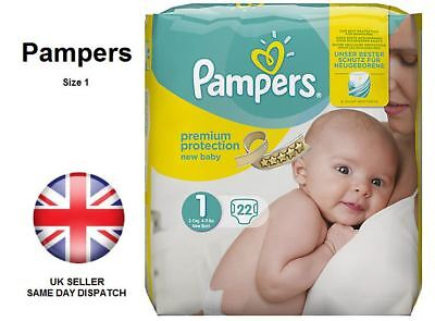 New Pampers Premium Baby Size 1/3 Hospital Carry Pack Soft Silky 2-5kg 4-11lbs