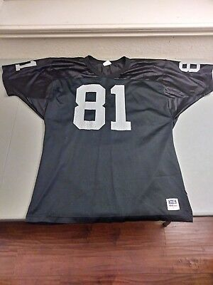 708bcfc7a Oakland Raiders Tim Brown vintage football jersey men s large Wilson 100%  nylon