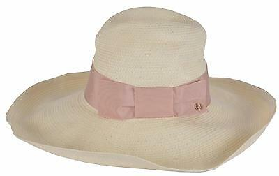 b6c4fd46 NEW Gucci Women's Natural 309138 $435 Wide Brim Floppy Interlocking GG Hat  SMALL
