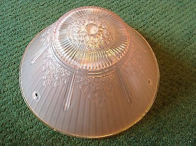 """Antique VTG Pink Depression Glass Replacement Shade Globe 10 1/2"""" x 4 1/2"""" GREAT"""