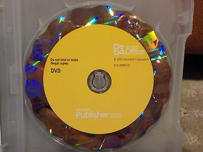 Microsoft Office Publisher 2010 Used with Product Code