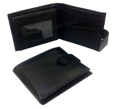 Men's Genuine Soft Leather Black Wallet Credit Card Designer Real High Quality