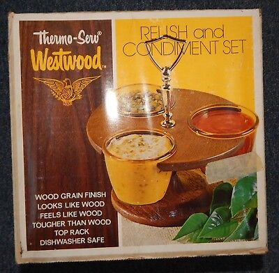 Thermo-Serv Westwood Relish and Condiment Set New in box R18004