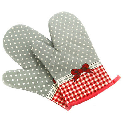New Floral Print Oven Pot Holder Baking Cooking Mitts Heat Resistant Cotton D6E7