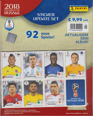Panini WM Russia 2018 - Sticker - Update Set- 92 Spieler FINALE TEAMS