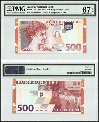 Austria 500 Schilling, 1997, P-154, Rosa Mayreder, Group of People, PMG 67