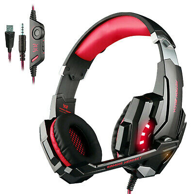 Each G9000 Gaming Headsets Headphones for PS4 Xbox One Controller with Mic Red