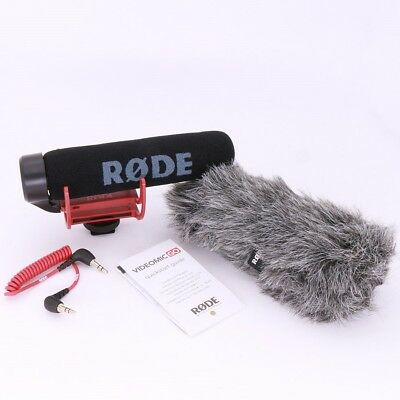 New Rode VideoMic GO hot Shoe On-Camera Shotgun Microphone + Rode VM GO Dead Cat