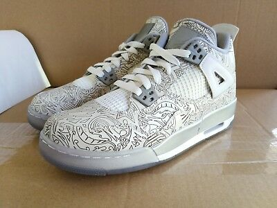 finest selection 33824 864ef AIR JORDAN 4 RETRO LASER BG GS 7Y aj 1 2 3 5 6 7 8