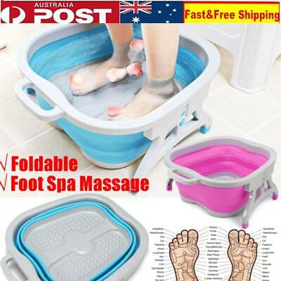 Foldable Foot Bucket Bubble Foot Spa Tub Health Care Relaxing Massage Basin