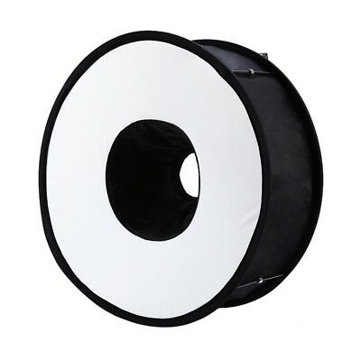 45cm Foldable Ring Speedlite Flash Diffuser Macro Shoot Round Softbox for I4X4