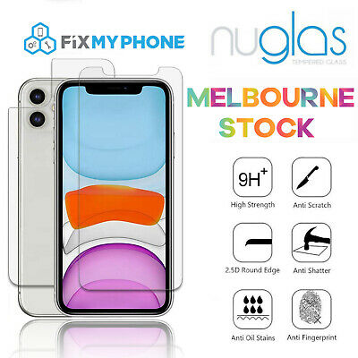 Front and Back Nuglas Tempered Glass Screen Protector for iPhone X 8 Plus 8