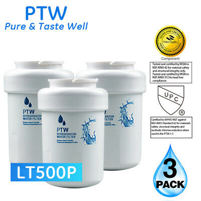 PTW Replacement For GE MWF SmartWater MWFP GWF Refrigerator Water Filter 3 Pack