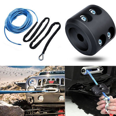 """Synthetic Winch Cable ATV UTV SUV Jeep Truck Rope 1//4/"""" 50ft Line Hook Stopper #B"""