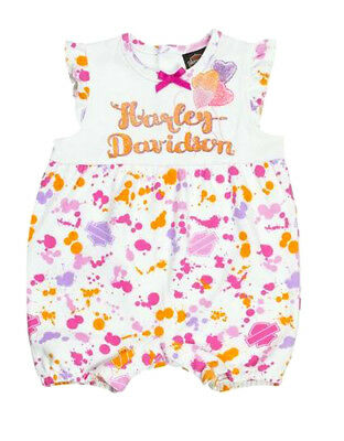 Harley-Davidson® Baby Toddler Girls Paint Splatter 1pc Romper Outfit 3002815