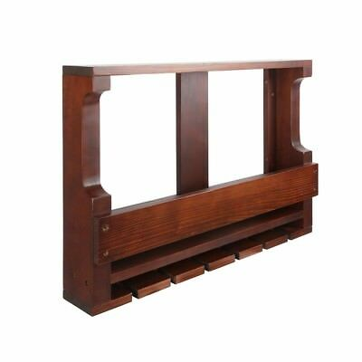 Wine Rack Timber Wall Mounted Bottles Wooden Storage Display Organise Brown @TOP