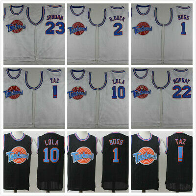 Vintage Space Jam Tune Squad Basketball Jersey Bill Murray 22 White All Stitched