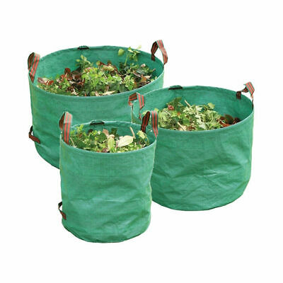 REUSABLE Heavy Duty Green GARDEN BAG / REFUSE SACK - 3 Sizes Available