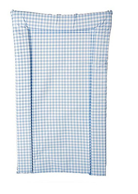 Brand new in bag Kit for kids changing mat in blue and white gingham