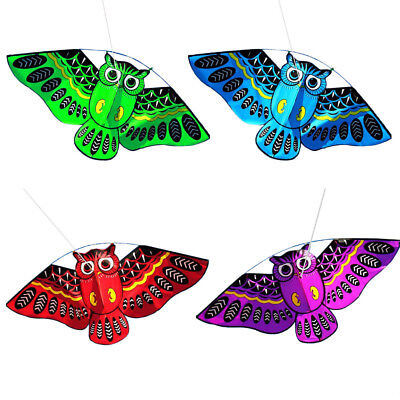 Large 3D Owl Kite Toy Funny Outdoor Flying Activity Game Children With Tail Hot