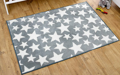 Brand new in bag Kit for kids nursery rug in Grey with white stars 100x150 cm
