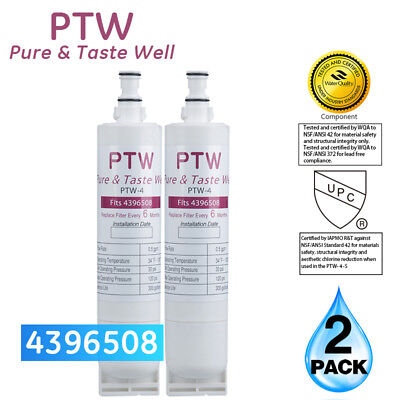 PTW Whirlpool 4396508 EDR5RXD1 4396510 Replacement For Water Filter 2 Pack