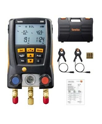 NEW Testo 550 Refrigeration Digital manifold kit 0563 1550 with 2pcs Clamp Probe