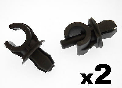 2x SEAT Black Plastic Bonnet Stay Holder Clips- clips to hold Bonnet Support Rod