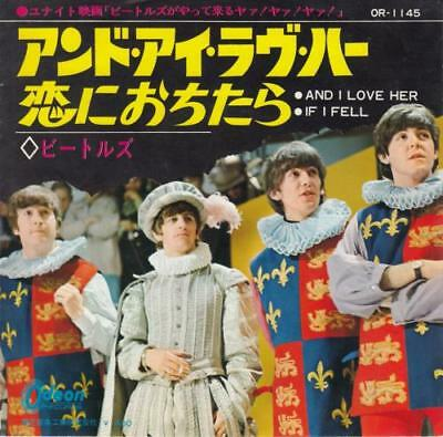 """Beatles 7"""" vinyl single record And I Love Her - Red Vinyl Japanese OR-1145"""