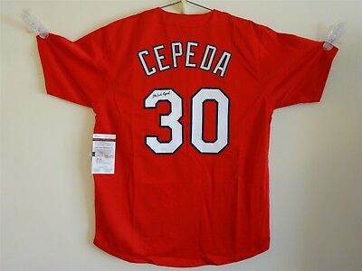 new styles 91fb7 6b777 ORLANDO CEPEDA SIGNED Auto St Louis Cardinals Red Jersey Jsa Autographed