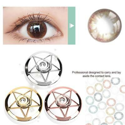 Pentagram Shape Contact Lens Box Travel Lenses Storage Case Eye Kit With Mirror