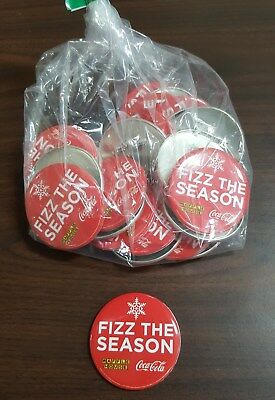 Lot of 25 Waffle House Coca-Cola Pin Button Christmas BRAND NEW! NEVER USED!