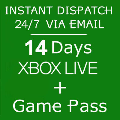 Xbox Live 14 Day Gold Trial Code 2 weeks - INSTANT DISPATCH