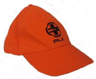 ralph lauren polo rlx mens baseball cap orange rare hat new