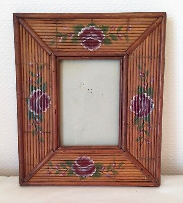 Oriental Handmade Bamboo Picture Frame Vintage Bamboo Frame 10 X 12 Ins