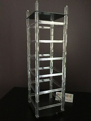 """5x5x17"""" Clear Plastic Spinning Rotating Countertop Carded Earring Rack Display"""