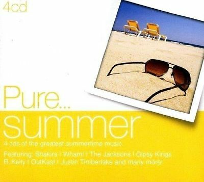 PURE SUMMER GREATEST HITS MUSIC NEW 4CD SET 70's,80's,90's ETC. PARTY, BBQ MUSIC