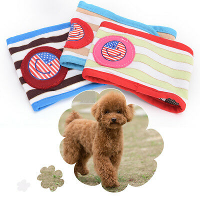 1pc Male Puppy Small Dog belly band diaper Sanitary Physiological Shorts RandomW