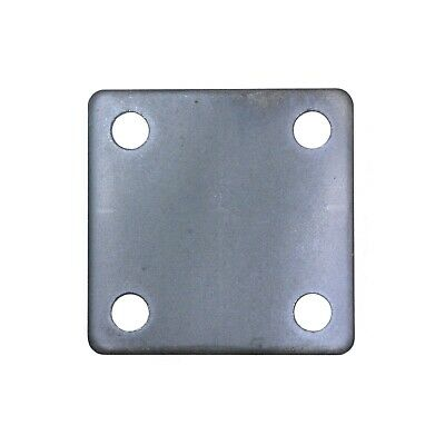 "STEEL FLAT SQUARE METAL BASE PLATE 3"" x 3"" x 3/16"" THICKNESS 3/8"" HOLE 