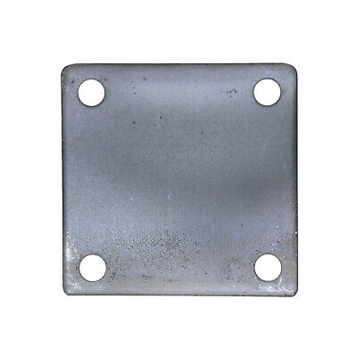"4"" x 4"" SQUARE FLAT STEEL METAL BASE PLATE 3/16"" THICKNESS 3/8"" HOLE 