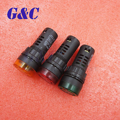 12V/24V/110V/220V AD16-22SM LED Flash Alarm Indicator Signal Light with Buzzer