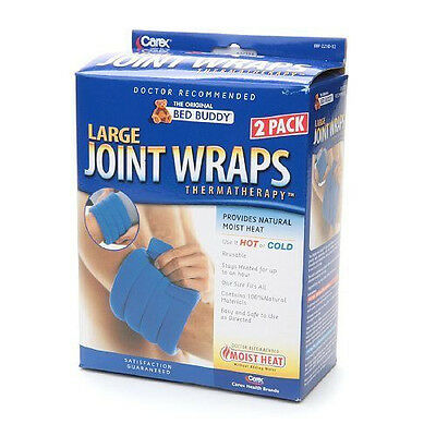 Carex Bed Buddy Joint Wraps Large Size 2 wraps in a Box Moist Heat Reusable