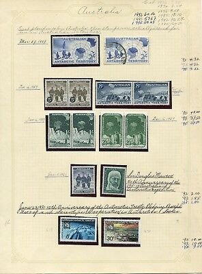 Weeda Australian Antarctic Territory  L1/L70 VF NH 1966-1987 Issues CV $137.35