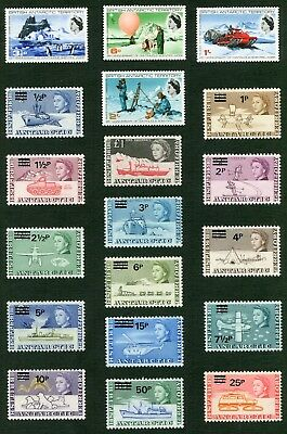Weeda British Antarctic Territory 20-38 VF mint LH 1969-1971 sets CV $332.40