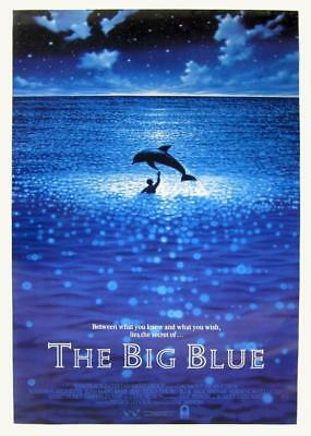 """THE BIG BLUE 27""""x41"""" Original Movie Poster One Sheet ROLLED 1988 Luc Besson Rare"""