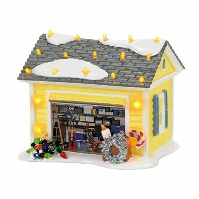 NEW Department56 Snow Village Christmas Vacation Holiday Garage Building 4056686