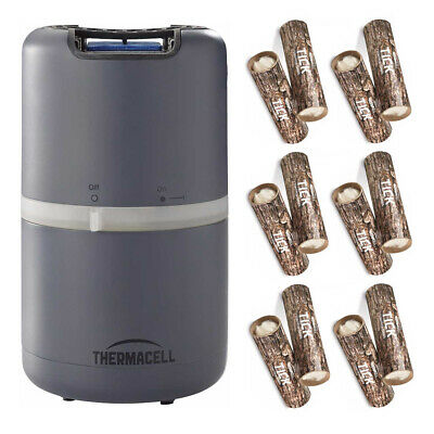 Thermacell Patio Shield Mosquito Repeller (Slate Grey) and Tick Control Tube Kit