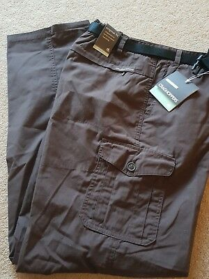 CRAGHOPPERS Womens Cocoa Brown NosiLife Lightweight Trousers Size 20 20L BNWT