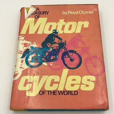 Vintage Floyd Clymer  A Treasury of Motorcycles of the World Hardcover 1965